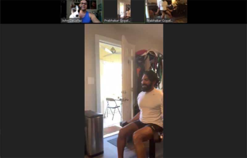 Virtual personal training session by Austin Simply Fit